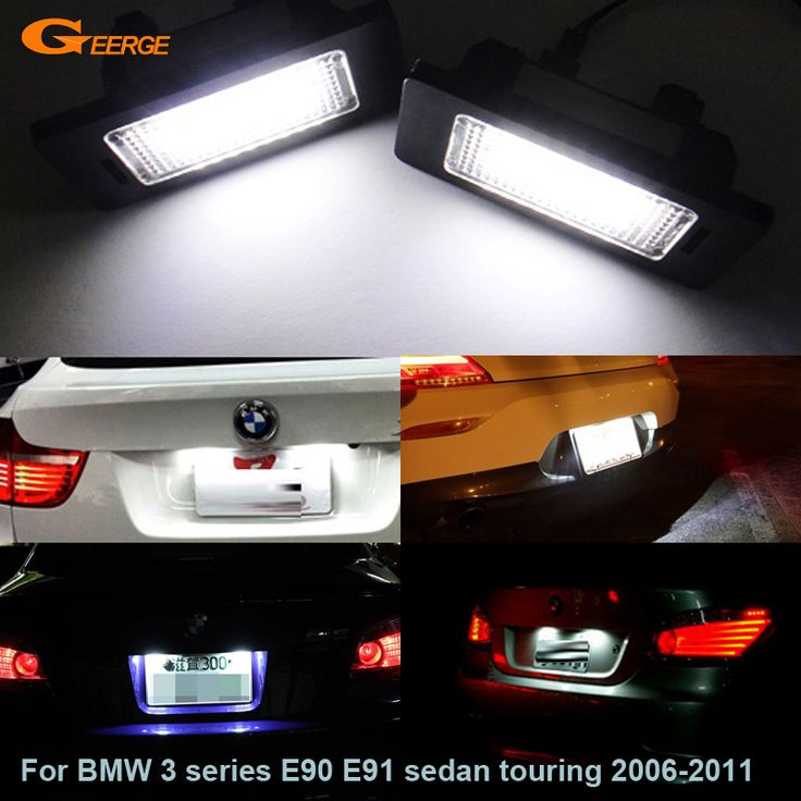 Find More Signal Lamp Information about For BMW 3 series E90 E91 sedan touring 2006 2011 Excellent Ultra bright 3528 Led License plate lamp light No OBC error,High Quality bmw led e90,China bmw e91 touring Suppliers, Cheap bmw light lamp from Geerge-Tech on Aliexpress.com