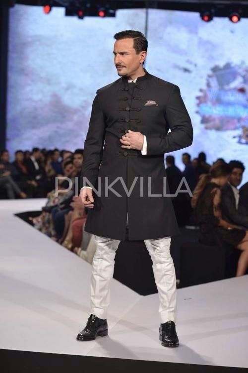 Saif Ali Khan Walks The Ramp for Raghavendra Rathore at #GQFashion Nights.