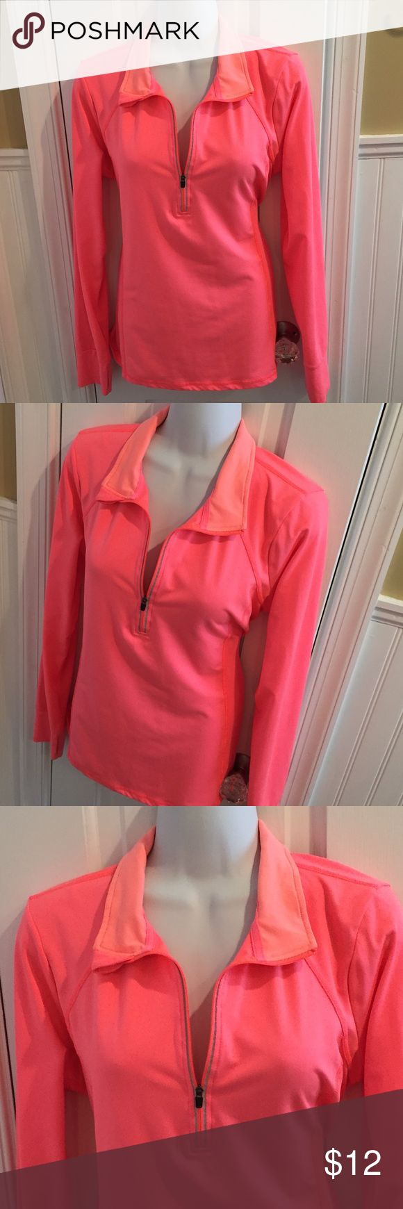 """Pink long sleeve top About 26"""" long Xersion Tops"""