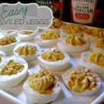 I love Apple Cider Vinegar!  Here is a recipe for Easy Deviled Eggs @Heinz Vinegar.  #HeinzVinegar sponsored.