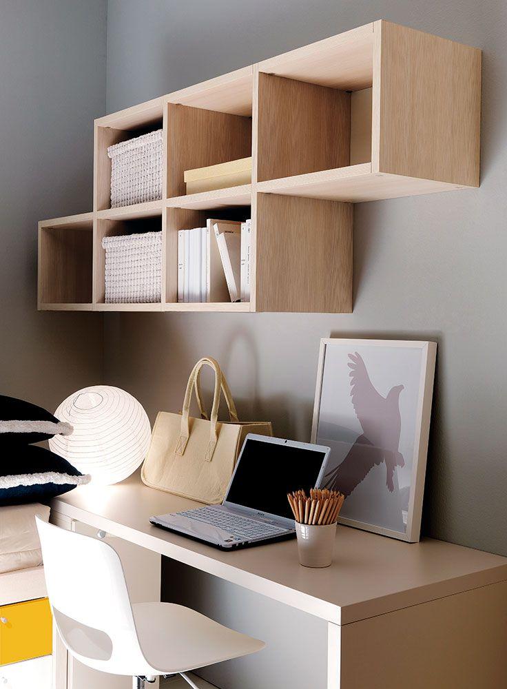 17 migliori idee su libreria per la camera da letto su - Scrivania da letto ...