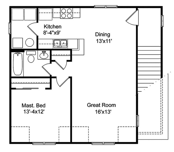 In law garage apartment plans traditional house plan for Plans for homes with inlaw apartments