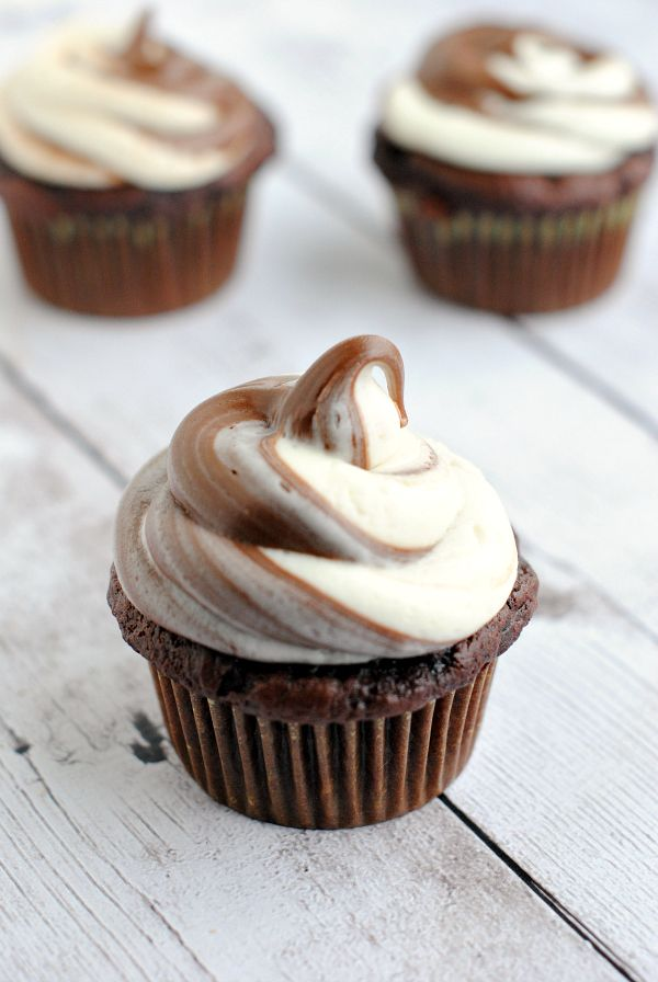 I'm going to need to try these Nutella Swirl Cupcakes from Crazy Little Projects! They look fabulous!