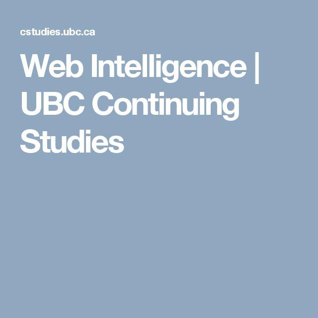 Web Intelligence | UBC Continuing Studies