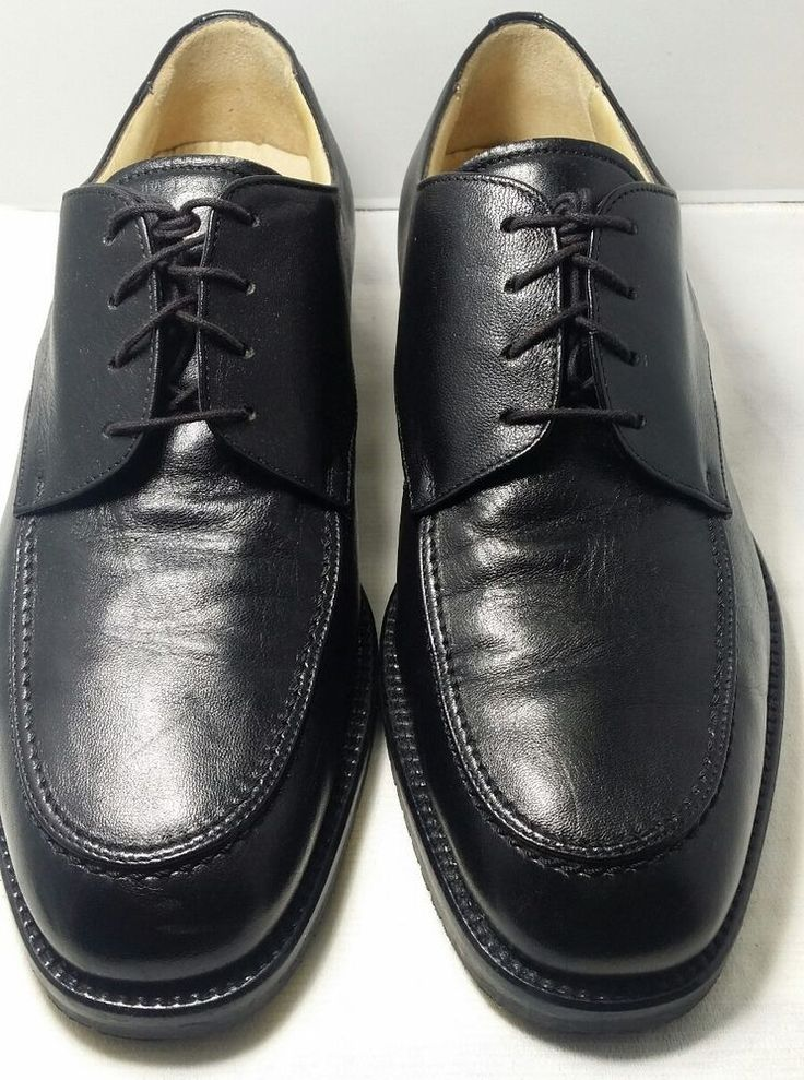 ALFANI Made in ITALY Black Oxfords Size 12 Lace up Dress Shoes Nice Condition #Alfani #Oxfords