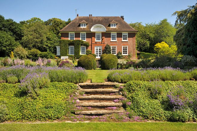 Edwardian Country House: Petham, Canterbury, Kent. This six-bedroom house was built around 1910 as a dower house for the widow of the owner of the adjacent estate.