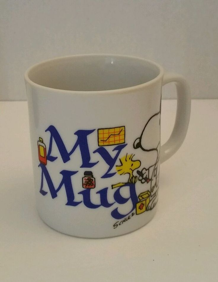 Snoopy Peanuts My Mug Doctor Thermometer Schulz Coffee Cup Mug #snoopy #peanuts #mymug #doctor #thermoemter #schulz #coffee #cup #mug #medicine #woodstock