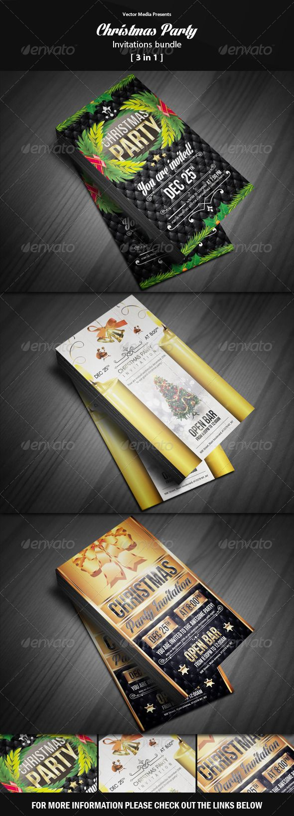 Christmas Party - Invitations Bundle