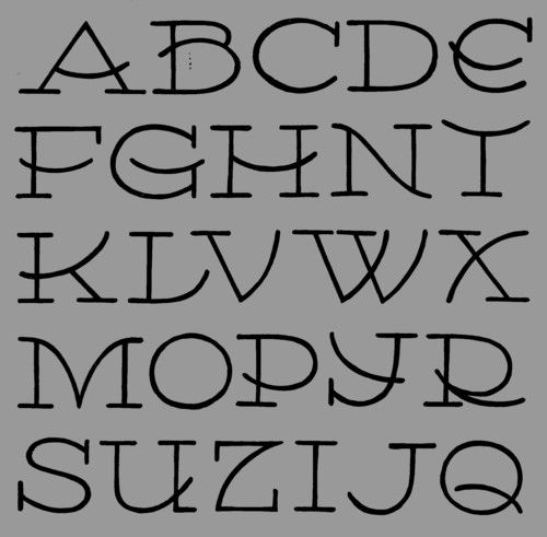 Most of my alphabets are not yet finished and neither do they have definitive names yet. This goes under the name Ben.