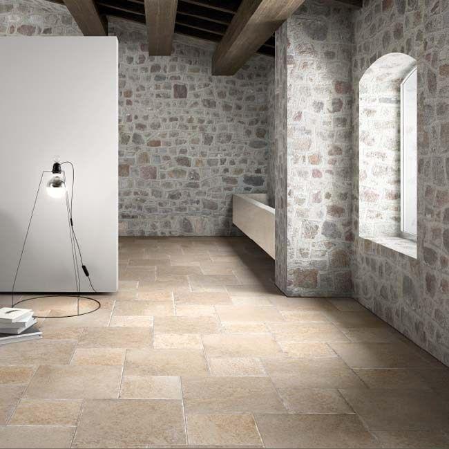 Caramel kasteelvloer met verouderde rand in 2 maten tegels (48-DD)  keramische vloertegel, tegelvloer, plavuizen, woonkamer, keuken, hal) Tegelhuys