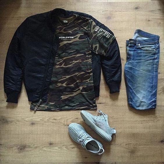 Combo masculino com Camiseta Militar