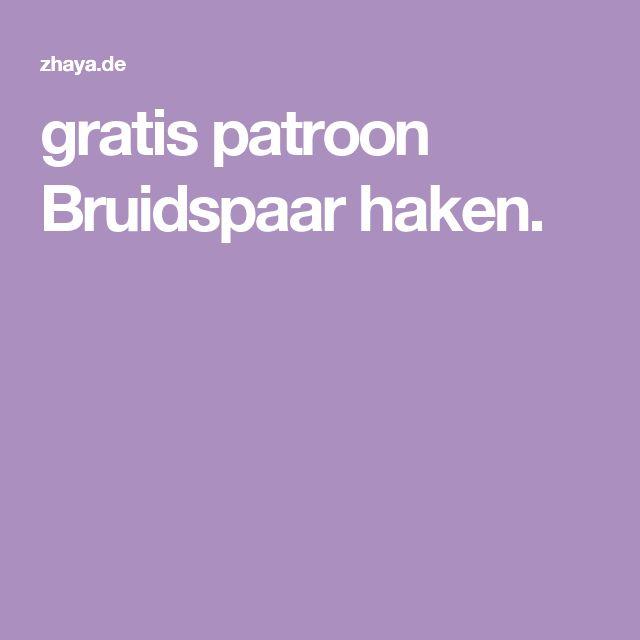 gratis patroon Bruidspaar haken.