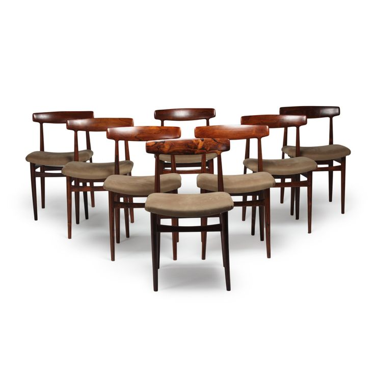 Set of 8 dining chairs by Fredrik Kayser