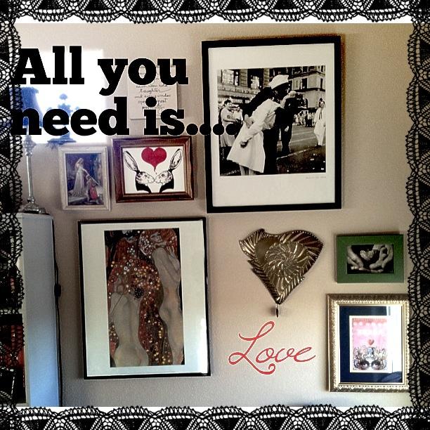 Still working on my craft studio- my love wall