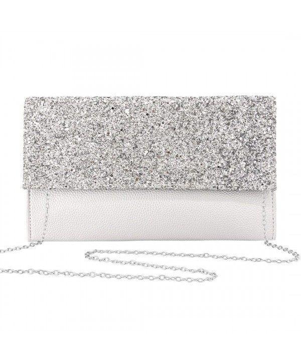 Sparkly Clutch Purse Evening Bag Wedding Party Bridesmaid Date Handbag Purse