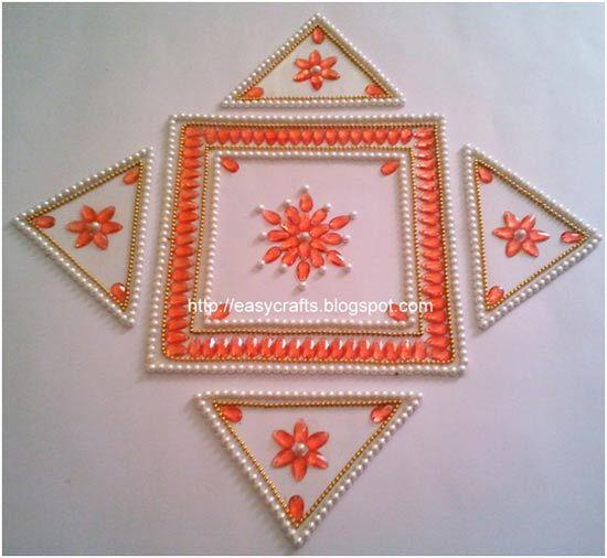 Geometric Kundan Rangoli Designs