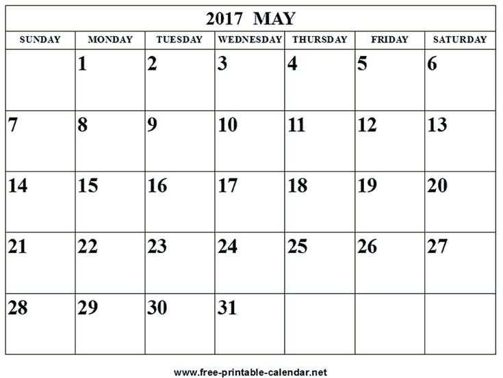 250 best Monthly Printable 2017 calendar images on Pinterest - free calendar printable