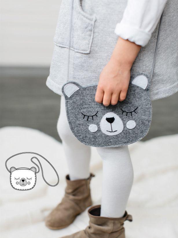Bear Purse - bolsa infantil fofa em formato de ursinho!