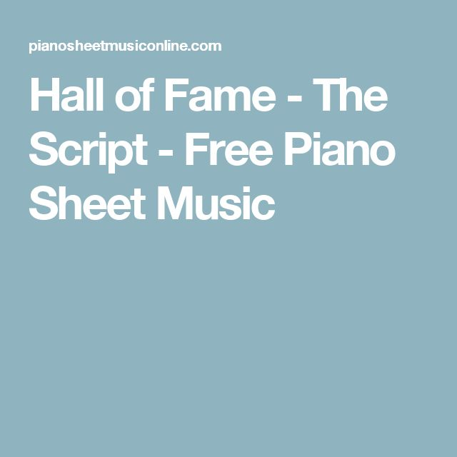 17+ Ideas About Free Piano Sheets On Pinterest
