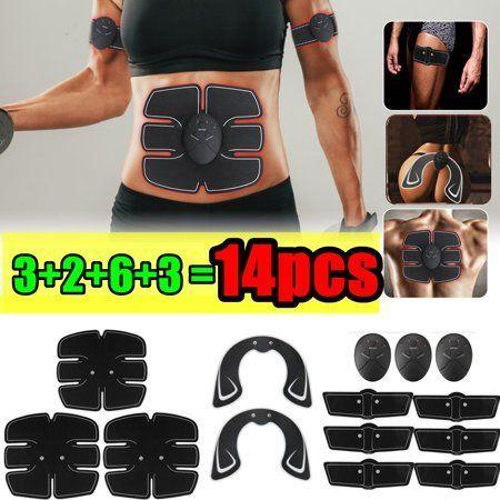 Grtsunsea 14Pcs/Set ABS Stimulator Muscle Training Gear, Buttocks Hip Lift Up, A…