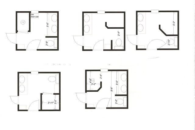 19 best master bathroom layouts images on pinterest for 5x6 bathroom layout