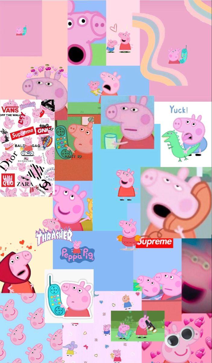 The Elite Peppa Society Peppa Pig Wallpaper Pink Wallpaper Cartoon Pig Wallpaper