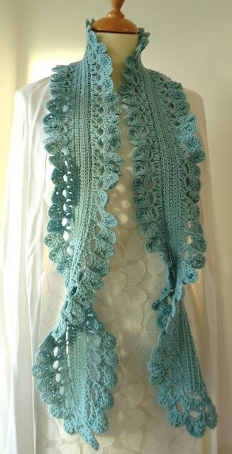 Free Crochet Edging Patterns For Scarves : 46 best images about Free crochet shawl patterns on ...