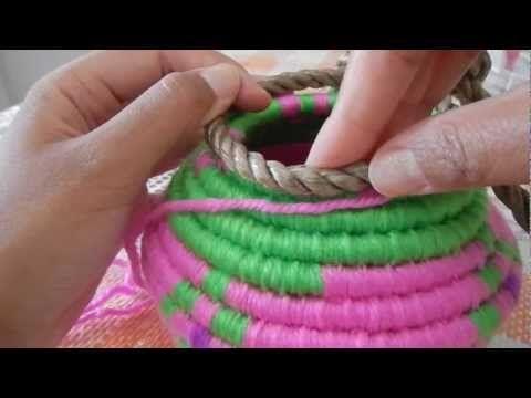 Indian Basket Weaving Part 4 curving inward @catrionaakacat