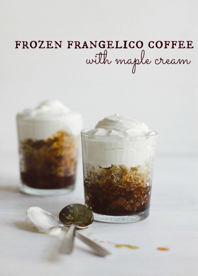 frozen frangelico coffee with maple cream   the vanilla bean blog