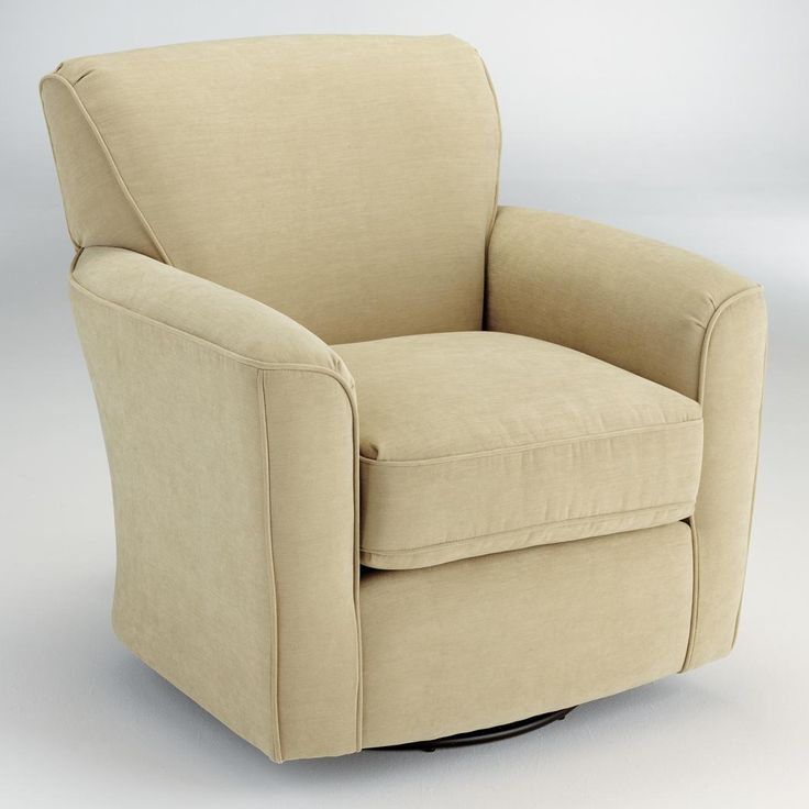Chairs swivel glide kaylee swivel barrel arm chair by best home furnishings johnny janosik - Swivel arm chairs living room ...