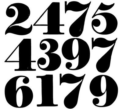 19 best images about typography numbers on pinterest for Classic house number fonts
