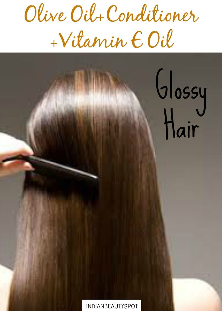 Glossy hair with homemade Deep conditioner