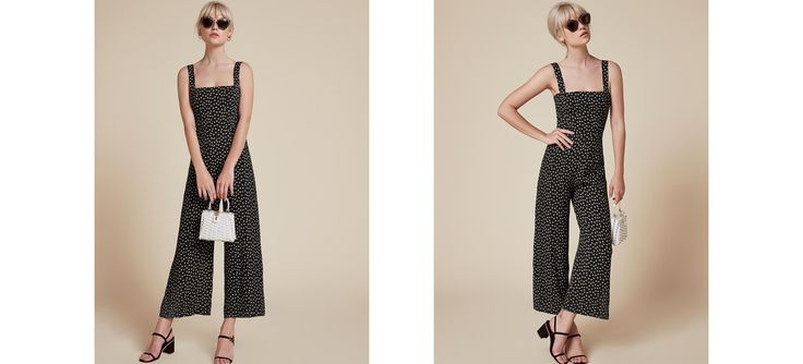 This is how we wear a suit. This is a slightly cropped jumpsuit with a fitted bodice and relaxed fitting leg.