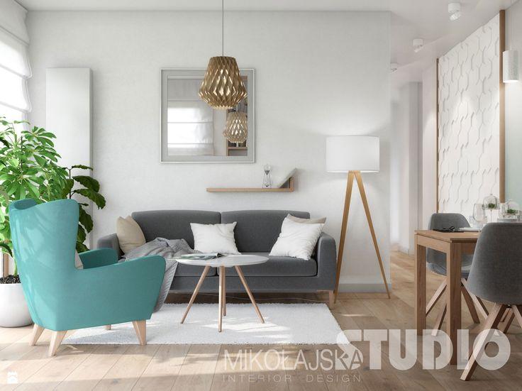 mały jasny salon - zdjęcie od MIKOŁAJSKAstudio - Salon - Styl Skandynawski - MIKOŁAJSKAstudio