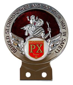 Vespa Piaggio PX St Christopher Car Badge +Tools Choice of 3 Colours | eBay