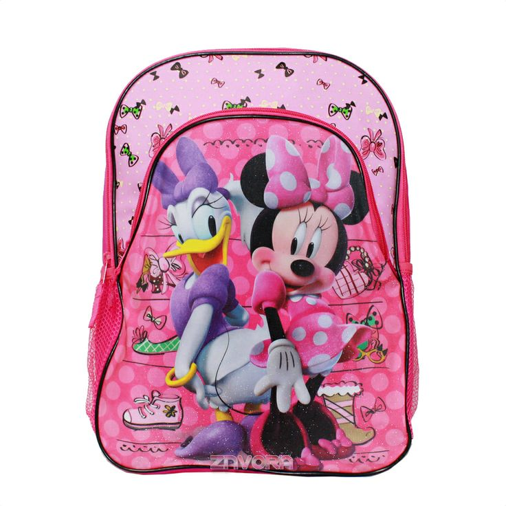 """Minnie Mouse And Daisy Duck 16"""" Large Backpack School Book"""