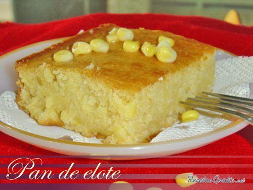 Aprende a preparar pan de elote original con esta rica y fácil receta. Se licúan la mantequilla, los huevos, el maiz y la leche, se le agrega a los ingredientes...