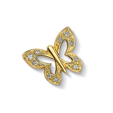 Pave Butterfly Treasure - Meaning: Celebration (CC401-V-WT)