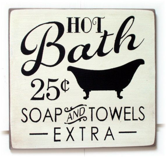 Hot Bath Soap and towels extra wood sign by pattisprimitives, $22.00