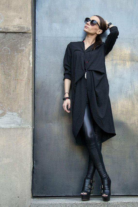 NEW COLLECTION / Spring Black Trench Coat / / by Aakasha on Etsy