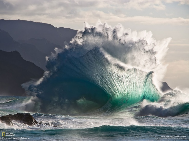 Spectacular wave.  National Geographic photo by Aaron Feinberg