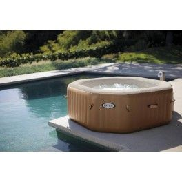 Intex Pure Spa Bubble Therapy Octagon met hardwatersysteem