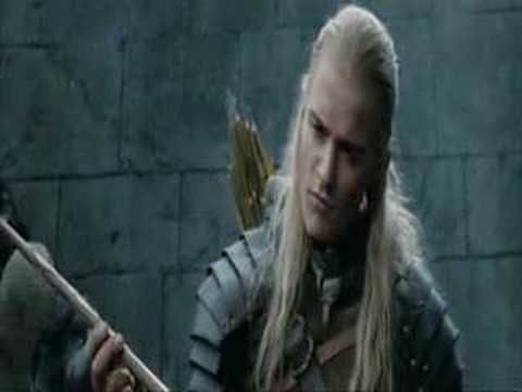 This is Legolas and Gimli having a fight about who won the compitition to kill the most orcs after the Battle at Helms Depp
