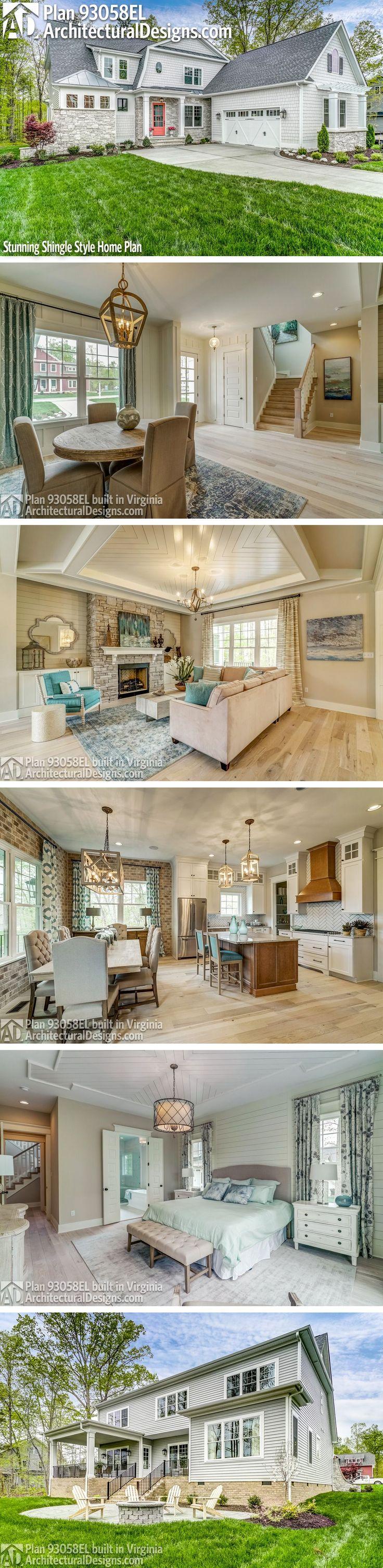 Architectural Designs House Plan 93058EL client built in
