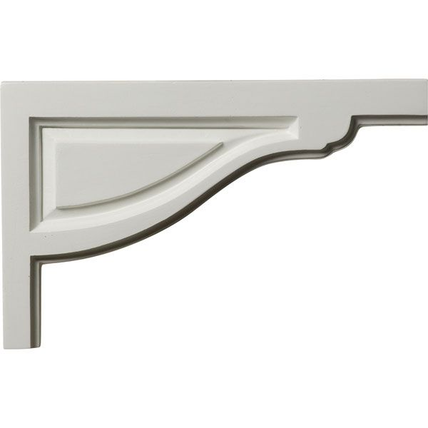 11 3/4-Inch W x 7 3/8-Inch H x 1/2-Inch D Large Traditional Stair Bracket, Right