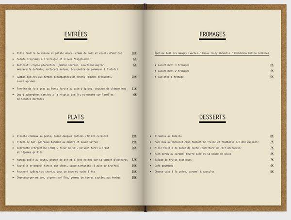 Inspiring examples of restaurant menu designs jayce