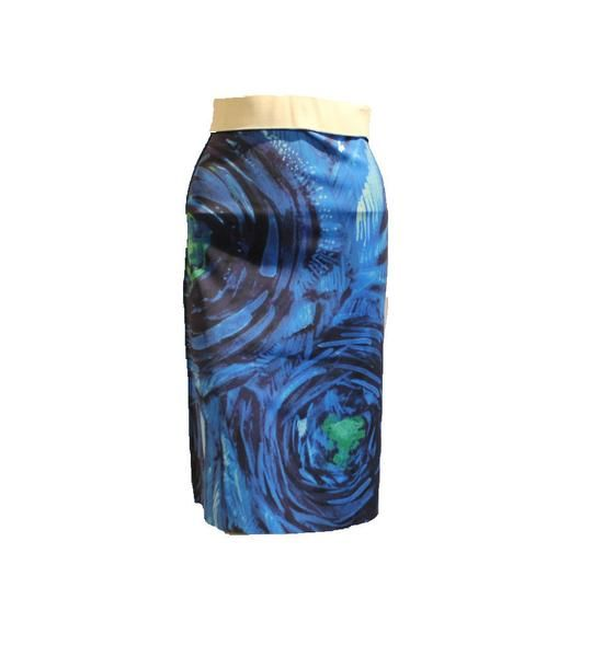 A line Reversible skirt Peacock Blue/Green