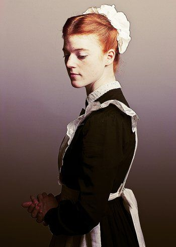 Rose Leslie as Gwen Dawson in Dowton Abbey created by Julian Fellowes