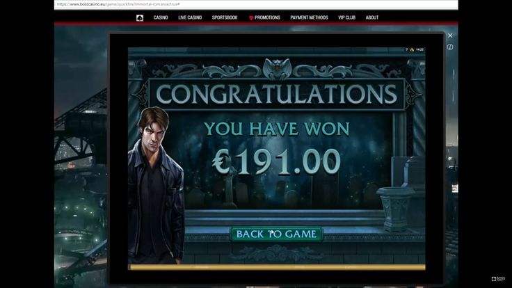 """Classics are always classics ;-) This is a review of """"Immortal Romance"""" - the online slot by Microgaming on BOSS Casino website.  In this video a player with €1.5 stake is getting 15 free spins and hitting a big win! Play and win with BOSS Casino"""