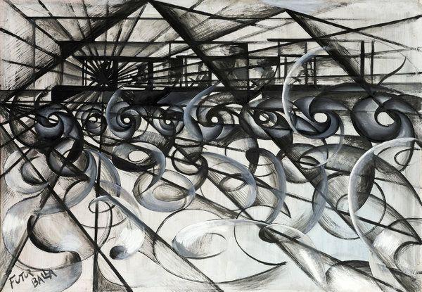 """Giacomo Balla's """"Automobile in corsa"""" (1913)"""